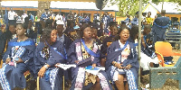 Some of the graduands at the ceremony