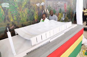 President Akufo-Addo inspecting the design of the National Cathedral created by David Adjaye