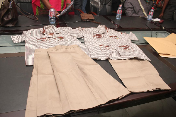 A sample of the new uniform for the Junior High School