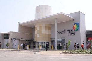 Front view of West Hills Mall