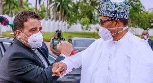 President Muhammadu Buhari hosts Libyan PM, Abdul Hamid Dbeibeh