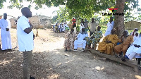Kojo Oppong Nkrumah visited the Zongo community in Ofuase Ayirebi