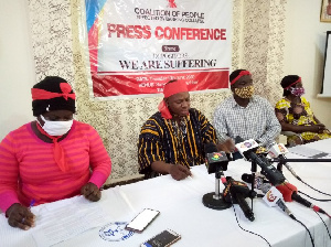 The Coalition of aggrieved customers addressing a press conference