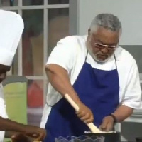 Former President Jerry John Rawlings on the Dining with Cook and Braggarts show