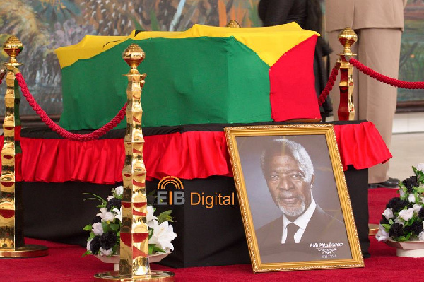 The late Kofi Annan has finally been laid to rest at the Military Cemetery in Accra