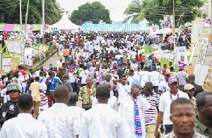 File photo: A group of NPP supporters at a party function