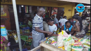 Some residents buying foodstuffs ahead of lockdown announced by the president