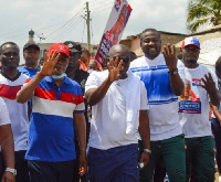 The NPP supporters walked through the principal streets in the La-Nkwantanang municipality