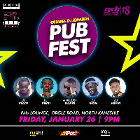 Ghana DJ Awards Pub Fest will come off at the PMs Lounge in Kaneshie, Accra