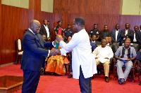 President Nana Addo Dankwa Akufo-Addo with John Peter Amewu