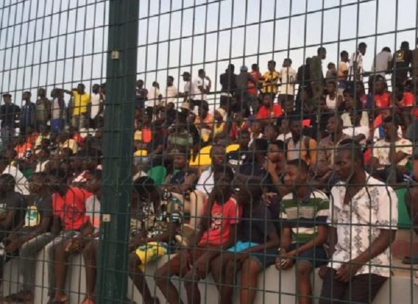 Fans come out in numbers to watch Black Stars train in Madina