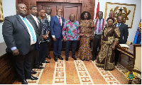 President Akufo-Addo with the newly appointed NLC board members