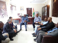 Isaac Asiamah in meeting with the delegation from Barcelona