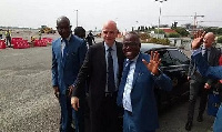 Infantino stopped over in Accra after visiting South Africa, Zimbabwe and Uganda