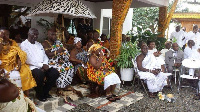 Ex President Kuffour  graces Gifty Anti's wedding