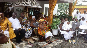 Ex President Kuffour  graces Gifty Anti's wedding