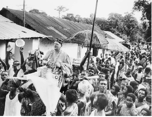 James Maxon OBE being enstooled at Aburi in Ghana