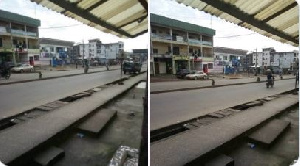 Roads, streets in parts of Douala, the economic capital of Cameroon were deserted