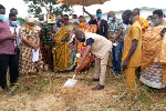 GNPC Foundation cuts sod for construction of an AstroTurf