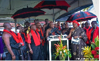 Agbogbomefia of the Asogli state, Togbe Afede XI
