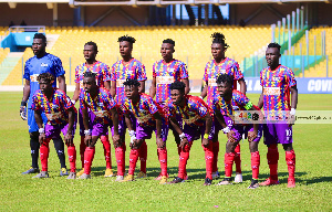 Hearts of oak players in a group photo
