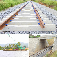 The Tema-Akosombo railway project is progressing steadily with 70 percent of construction works done