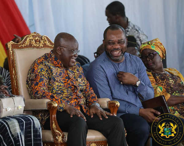 President Akufo-Addo and Education Minister Dr Matthew Opoku Prempeh