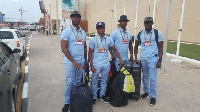 Team Dogboe have left Ghana for the bout on 28th April