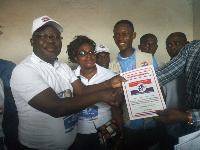Mr Alfred Obeng Boateng picked forms to join the Bibiani NPP  Parliamentary race