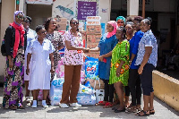 The Women's Commission of GIMPA SRC made the donation at Korle Bu Teaching Hospital, Accra