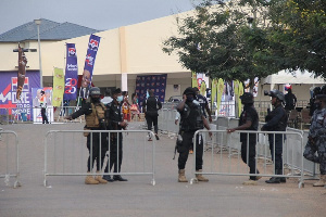 Some security personnel at the event grounds