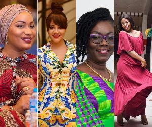 Samira Bawumia, Shirley Frimpong-Manso, Ursula Owusu and Nadia are some of the famous people