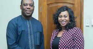 Education Minister, Dr. Matthew Opoku Prempeh and Public Procurement Minister, Adwoa Safo