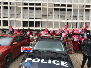 Menzgold Customers Court Placards