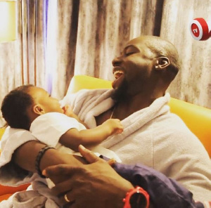 Chris Attoh and son