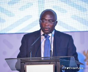 Vice President, Dr. Mahamudu Bawumia during the Twon Hall Meeting said the NDC cannot match the NPP