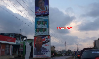 The posters of Mr Tetteh has flooded the streets within the constituency
