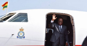 The president is expected to return to Ghana on Friday, April 16