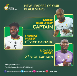 Partey and Ofori are deputies to Andre Ayew