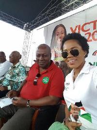 MzBel and former president John Mahama