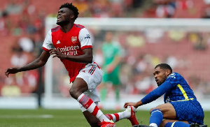 Partey got injured after a challenge from Chelsea's Loftus Cheek