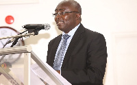 Vice President Dr Mahamudu Bawumia speaking at the fair
