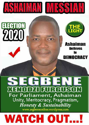 Dr Segbene failed to contest in the NDC primaries after failing to file his nomination forms