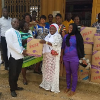 Lawyer Barbara Oteng-Gyasi donated 650 pieces of 'Yazz' Sanitary Pads
