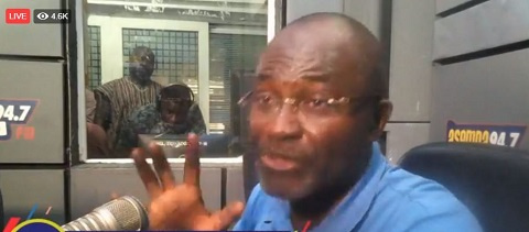 Kennedy Agyapong is currently speaking on Accra-based Asempa FM