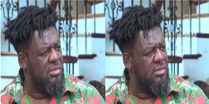 Bulldog couldn't hold his tears as he watched singer Mark Anim Yirenkye perform