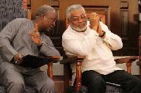 President John Mahama and former President JJ Rawlings