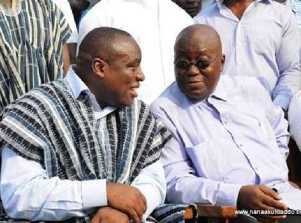 President Nana Addo Dankwa Akufo-Addo with Kwabena Agyapong