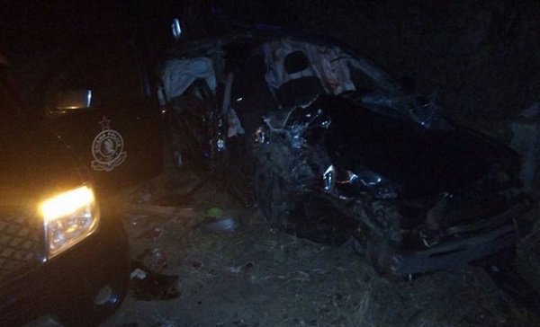 The jeep Ebony and two military officers were on board completely damaged
