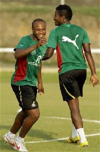 Library photo: Dede Ayew and Asamoah Gyan - Black Stars camp